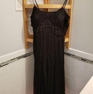 Ice Crocheted Black Beaded Formal Dress
